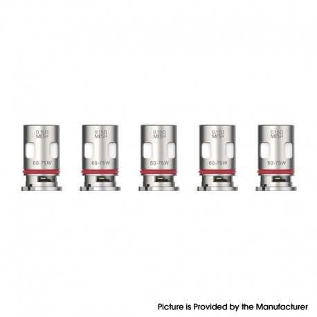 Authentic Vaporesso Target PM80 Mod Pod Vape Kit / Catridge Replacement GTX NiCr DTL Mesh Coil Head - 0.15ohm (60~75W) (5 PCS)