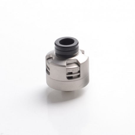 Vapeasy Armor Engine Style RDA Rebuildable Dripping Atomizer w/ BF Pin - Sand Blasting Silver, 316 Stainless Steel, 22mm Dia.