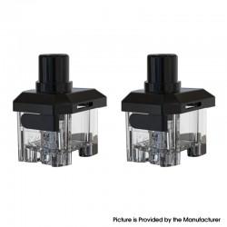 Authentic Hotcig Sniper Pod System Vape Kit Replacement Empty Pod Cartridge - Black + Transparent, 3.2ml (2 PCS)
