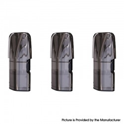 Authentic Advken Oasis Pod System Vape Kit Replacement Pod Cartridge w/ 1.2ohm A1 Coil Head - Black, 2ml (3 PCS)