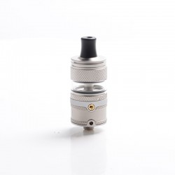 Authentic Auguse Era MTL RTA Rebuildable Tank Atomizer - Matte Silver, Stainless Steel + Glass, 3ml, 22mm Diameter