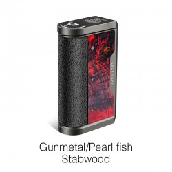 Authentic Lost Vape Centaurus DNA 250C 200W TC VW Vape Box Mod - Gunmetal/Pearl Fish-Stabwood, 2 x 18650, 1~200W, 200~600'F