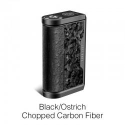Authentic Lost Vape Centaurus DNA 250C 200W TC VW Vape Mod - Black/Ostrich-Chopped Carbon Fiber, 2 x 18650, 1~200W, 200~600'F