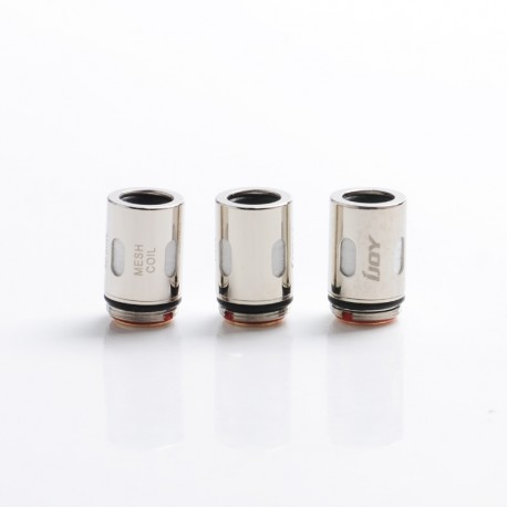Authentic IJOY Jupiter Pod System Vape Kit / Cartridge Replacement Mesh-J1 Coil Head - Silver, 0.2ohm (40~60W) (3 PCS)