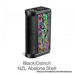 Authentic Lost Vape Centaurus DNA 250C 200W TC VW Vape Box Mod - Black/Ostrich NZL Abalone Shell, 2 x 18650, 1~200W, 200~600'F