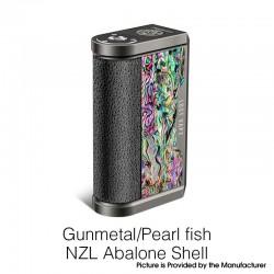Authentic Lost Vape Centaurus DNA 250C 200W TC VW Vape Mod - Gunmetal/Pearl Fish NZL Abalone Shell, 2 x 18650, 1~200W, 200~600'F