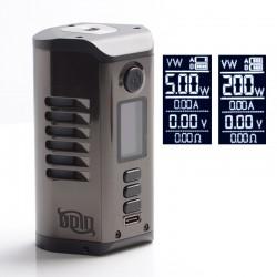 Authentic Dovpo Odin 200 200W TC VV VW Mod - Gun Metal, Aluminum Alloy + Zinc Alloy, 5~200W, 200~600'F, 2 x 20700 / 21700
