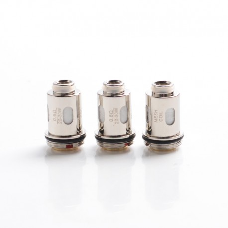 Authentic IJOY Jupiter Pod System Vape Kit / Cartridge Replacement Mesh-J2 Coil Head - Silver, 0.6ohm (20~30W) (3 PCS)