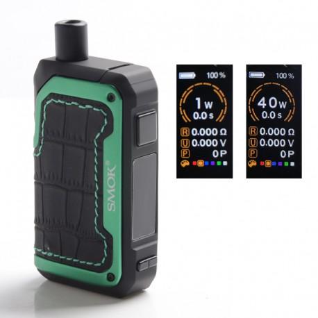 Authentic SMOKTech SMOK Alike Kit 40W 1600mAh VW Pod System Vape Starter Kit - Matte Green, 1~40W, 5.5ml, Standard Edition