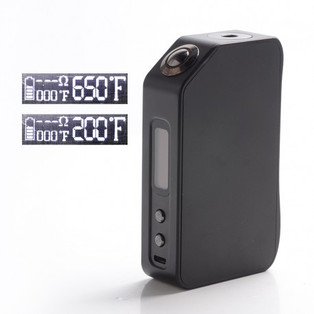Authentic Vape Master Fury 220W TC VW Variable Wattage Vape Box Mod - Black, 5~220W, 200~650'F, 2 x 18650