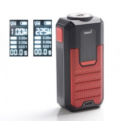 Authentic Smoant Ladon 225W TC VW Variable Wattage Vape Box Mod - Red, 1~225W, 100~300'C / 200~600'F, 2 x 18650