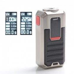 Authentic Smoant Ladon 225W TC VW Variable Wattage Vape Box Mod - Silver, 1~225W, 100~300'C / 200~600'F, 2 x 18650