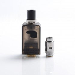 Authentic Smoant Knight 80 TC VW Mod RBA Pod System Kit Replacement Pod Cartridge w/ 0.3ohm & 0.4ohm Mesh Coils - Black, 4ml
