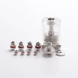 SXK VapeSnail Style Replacement Tank RBA + 4.0mm Chimney + Base Deck w/ 4 AFC Tubes + 4 MTL Pins for SXK BB / Billet Box Mod Kit