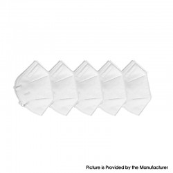 KN95 Disposable Protective Mask Respirator Adaptable Breathable Mask Filter Anti Bacteria / Virus / COVID-19 - White (5 PCS)
