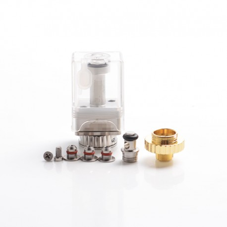 ULTON DOTSHELL Style Replacement Tank RBA w/ 3 MTL Pin for dotAIO Portable AIO Pod System Vape Kit - PCTG, 1.0mm + 1.2mm + 1.5mm
