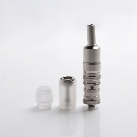 Flash FEV VS Style MTL RTA Rebuildable Tank Vape Atomizer - Silver, Stainless Steel, 3.0ml, 17mm Diameter