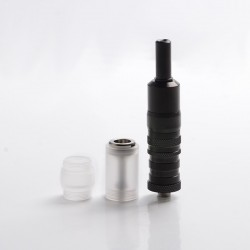Flash FEV VS Style MTL RTA Rebuildable Tank Vape Atomizer - Black, Stainless Steel, 3.0ml, 17mm Diameter