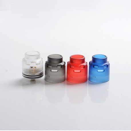 Authentic Hellvape Dead Rabbit SE RDA Rebuildable Dripping Vape Atomizer Kit w/ BF Pin - Blue + Black + Red + Clear, 24mm Dia.