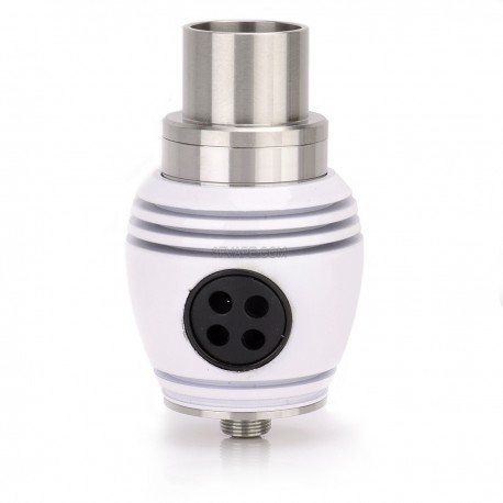 Nuke Style RDA Rebuildable Dripping Atomizer - White, Stainless Steel