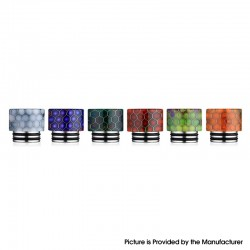 Replacement 810 Drip Tip for SMOK TFV8 / TFV12 Tank / Kennedy / Battle / Reload RDA - Random Color, Resin + SS, 15mm (1 PC)