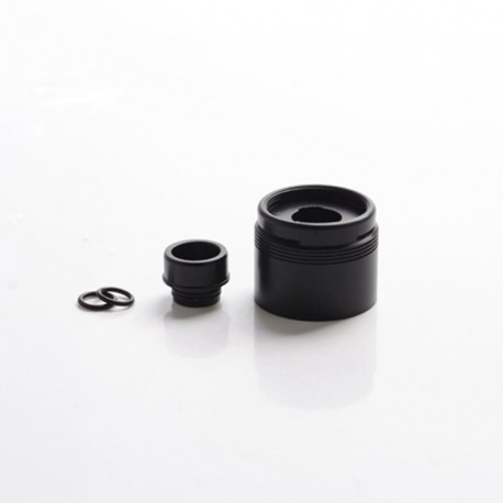 SXK Style Replacement Top Cap with Drip Tip for 5A's Basic V2 Style RDA - Black, POM, 22mm Diameter