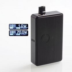 SXK BB Style 70W VW All-in-One Box Mod Kit w/ USB Port - Black, 1~70W, Aluminum, 1 x 18650, With 2019 LOGO