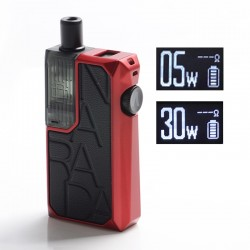 Authentic Augvape Narada Pro 30W VW Pod System Vape MTL / DL Starter Kit - Red + Black Leather, 5~30W, 3.7ml