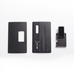 SXK Mission Style Replacement Switch + Back & Front Panel Kit for SXK BB Style / Billet DNA60 60W / 70W Mod Kit - Black, G10