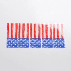 18650 Battery PVC Wrappers Skin Sticker for LG MH1 / LG HB6 /Samsung ICR18650-26F/Samsung INR18650, etc. - National Flag (5 PCS)