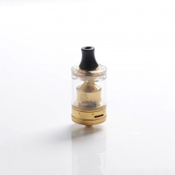 Authentic Wotofo COG MTL RTA Rebuildable Tank Vape Atomizer - Gold, Stainless Steel + PCTG, 3ml, 22mm Diameter