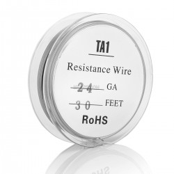 Ti Grade 1 24 AWG Titanium Heating Wire for RBA / RTA / RDA - Silver, 0.51mm x 10m