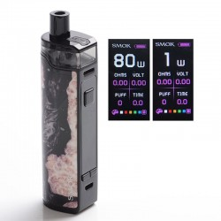 [Ships from HongKong] Authentic SMOKTech RPM80 80W VV VW Mod Pod System w/ IQ-80 Chip - Black Stabilizing Wood, 1~80W, 1 x 18650