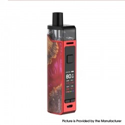 [Ships from HongKong] Authentic SMOK RPM80 80W 3000mAh VW Mod Pod System w/ IQ-80 Chip - Red Stabilizing Wood, 5ml, 1~80W