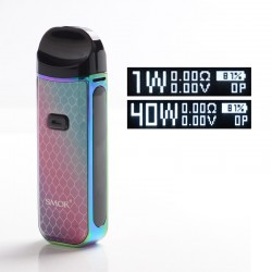 [Ships from HongKong] Authentic SMOKTech SMOK Nord 2 40W 1500mAh Pod System - 7-Color Cobra, 4.5ml, 0.4ohm / 0.8ohm, 1~40W