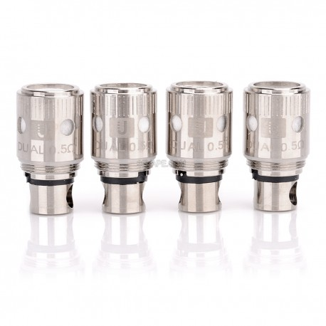 Authentic Uwell Coil Heads for Crown Sub Ohm Tank - Silver, 0.5 Ohm (30~80W) (4 PCS)