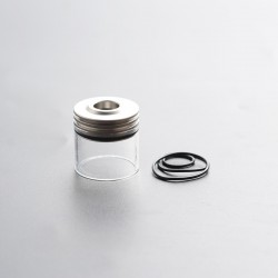 Authentic Auguse Era MTL RTA Replacement Top-Filling Top Cap Tank Tube - Silver, Stainless Steel + Glass, 3ml, Type B