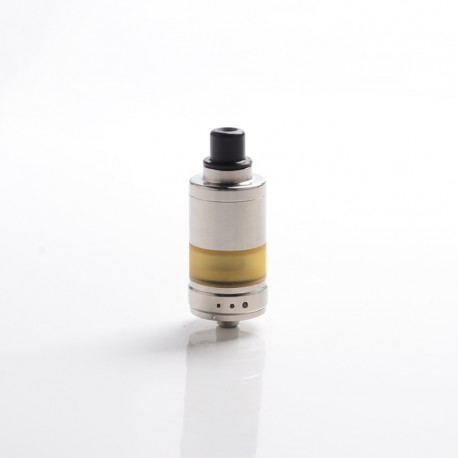 Alpha Style RTA Rebuildable Tank Vape Atomizer - Silver, 316 Stainless Steel + PEI, 2.8ml, 22mm Diameter