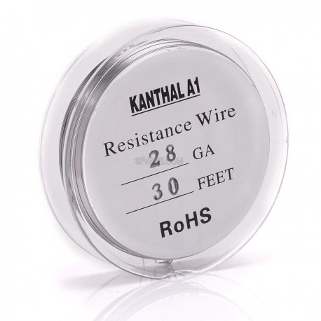 Authentic Kanthal A1 28 AWG Gauge Resistance Wire for RDA / Rebuildable Atomizers - 0.32mm x 30 Feet, 5.27 ohm/ft