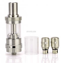 Authentic Uwell Crown Sub Ohm Tank - Silver + Transparent, Stainless Steel + Glass, 4.0mL, 0.5 Ohm / 0.15 ohm (Ni200)