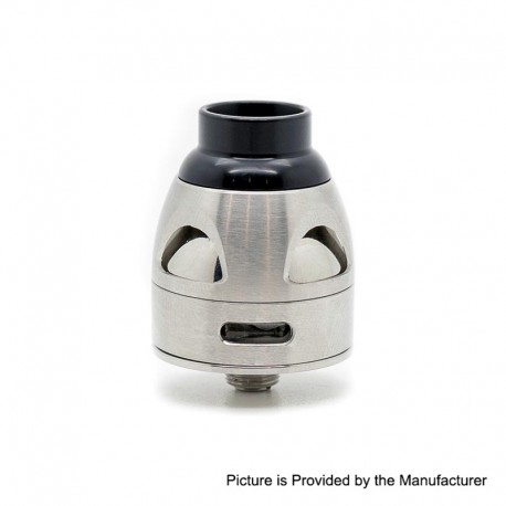 Authentic Asmodus Galatek RDA Rebuildable Dripping Vape Atomizer w/ BF Pin - Silver, Stainless Steel, 24mm Diameter