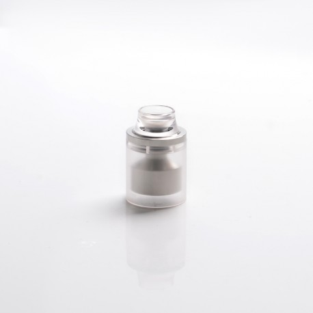 Replacement Top Cap Tank Tube Nano Kit w/ Drip Tip for Taifun GT4 S GT 4 S IV S Style DL RTA - Silver + Translucent, 2.9ml, 23mm