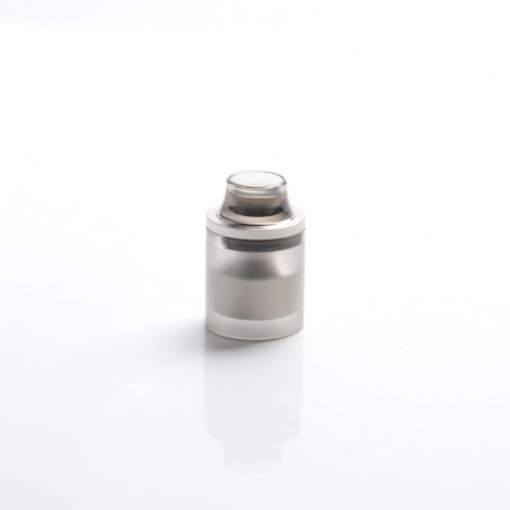 Replacement Top Cap Tank Tube Nano Kit w/ Drip Tip for Taifun GT4 S GT 4 S IV S Style DL RTA - Silver + Black, 2.9ml, 23mm