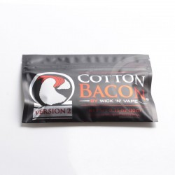 Authentic Wick 'N' Vape Cotton Bacon V2.0 for E-Cigarettes - 0.35 Oz (10g)