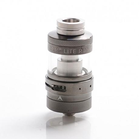 Authentic Steam Crave Aromamizer Lite V1.5 MTL RTA Rebuildable Tank Atomizer - Gunmetal, Stainless Steel + Glass, 23mm Diameter