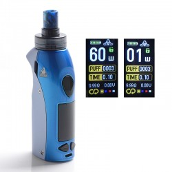 Authentic Kangvape Anarchist 60W 1500mAh MTL / DTL VW Box Mod Pod System Vape Starter Kit - Blue, 0.4ohm / 1.2ohm, 1~60W