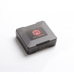 Authentic Coil Master B4 Battery Carrier Protective Box for Four 18650 Battery Cells - Black, Polypropylene Plastic