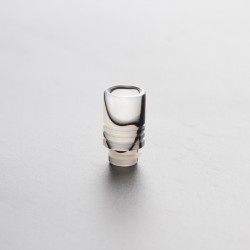 Acrylic Shorty Replacement Wide Bore 510 Drip Tip for RDA/RTA / RDTA/Sub-Ohm Tank Vape Atomizer - Black + White, Acrylic, 21.5mm