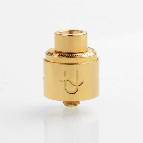 Authentic Wotofo Serpent RDA Rebuildable Dripping Vape Atomizer w/ BF Pin - Gold, Aluminum + 316 Stainless Steel, 22mm Diameter