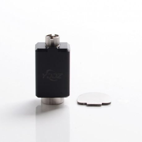 Authentic YDDZ A1 510 Thread Adapter Connector for dotMod dotAIO Pod System Vape Kit - Black + Silver, POM + Stainless Steel